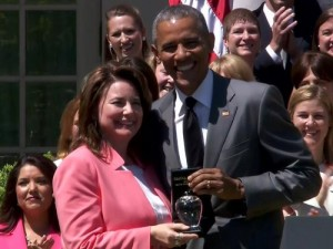 Shanna Peeples and President Obama
